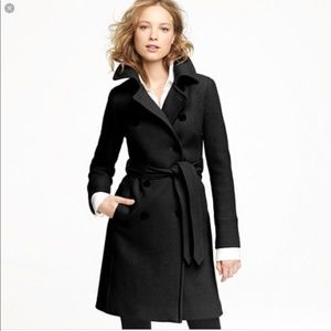 Jcrew icon trench wool cashmere coat in 00 black